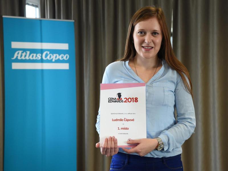 Ludmila Čápová, vítězka Ceny Edwards 2018